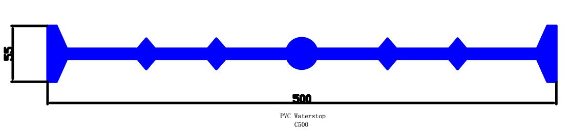 pvc waterstop profile