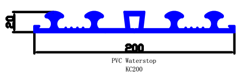 200mm pvc water stop