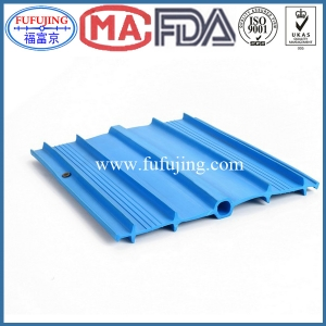 Center Bulb Ribbed Tapered Width 250mm PVC waterstop C250 blue