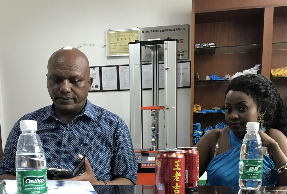 Kenya customer come to visit the factory